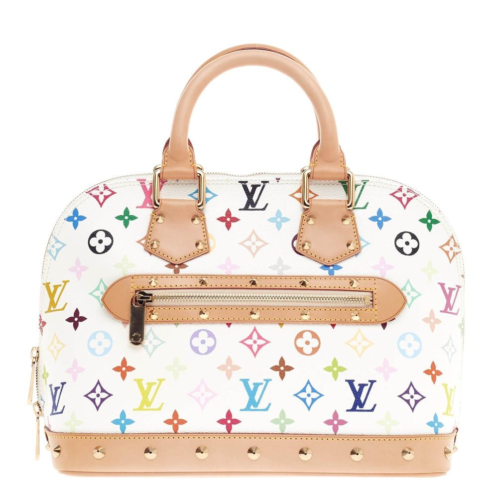 Louis Vuitton Handbag Alma Monogram Multicolore PM White