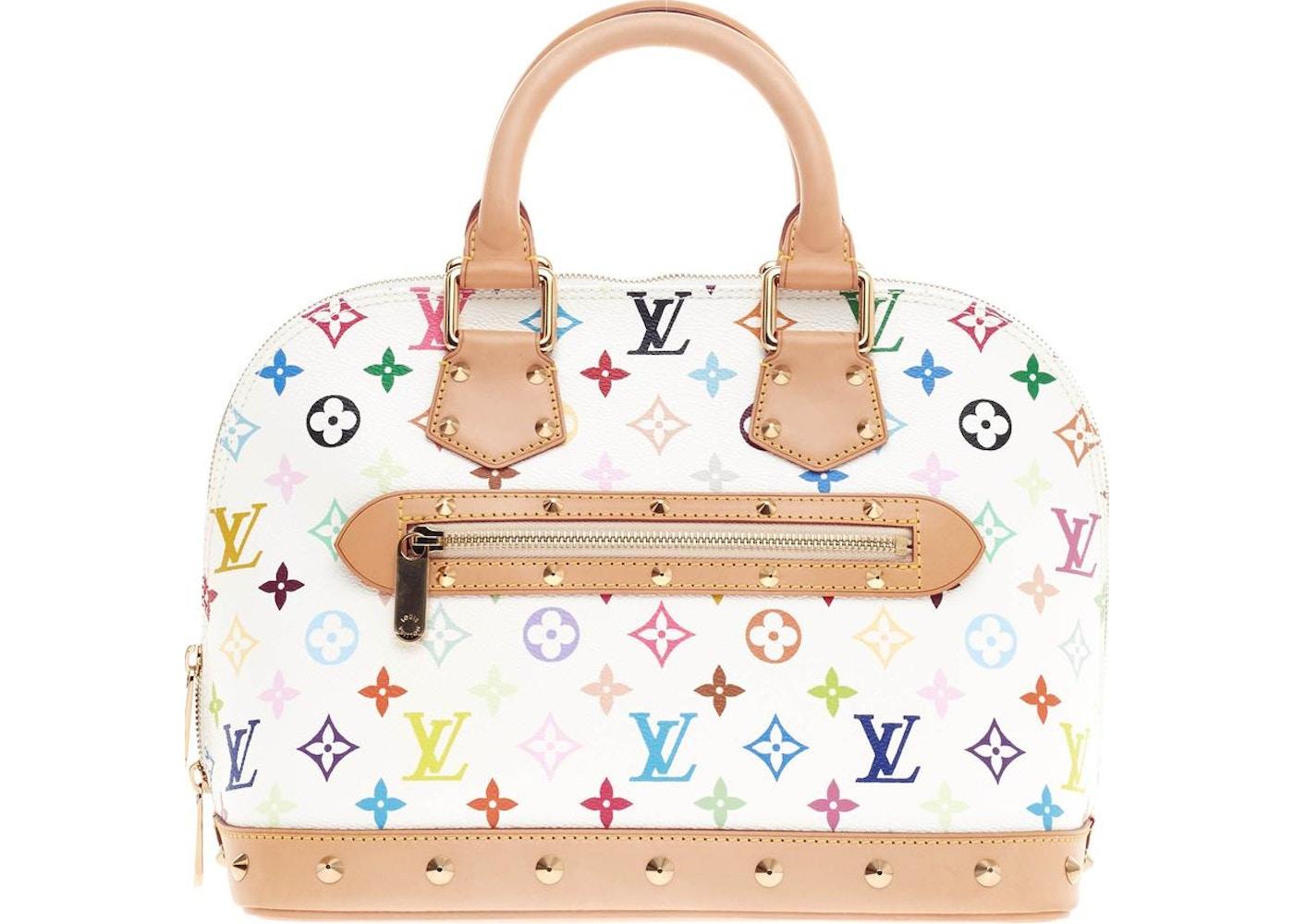 28a3dc738051 Louis Vuitton Handbag Alma Monogram Multicolore PM White. Monogram  Multicolore PM White