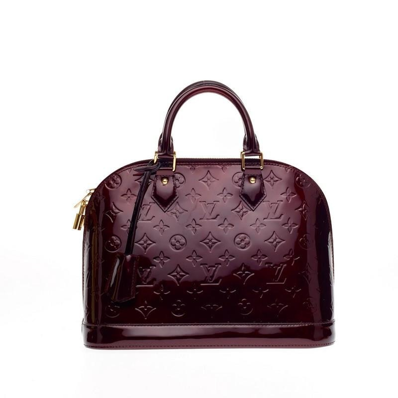 Louis Vuitton Handbag Alma Monogram Vernis PM Amarante Maroon