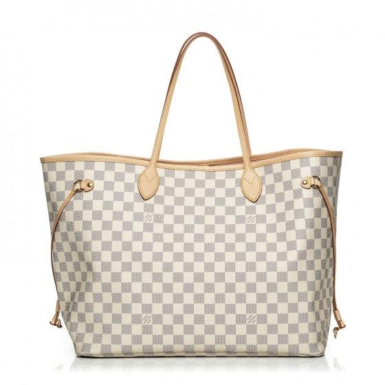 Louis Vuitton Handbag Neo Neverfull Damier Azur GM Rose Ballerine