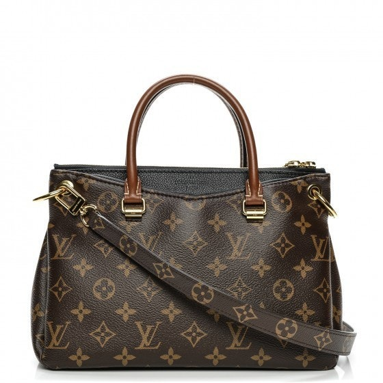 Louis Vuitton Handbag Pallas Monogram BB Brown/Noir Black