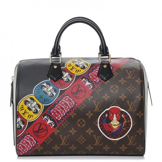 Louis Vuitton Handbag Speedy Monogram Kabuki 30 Brown/Green