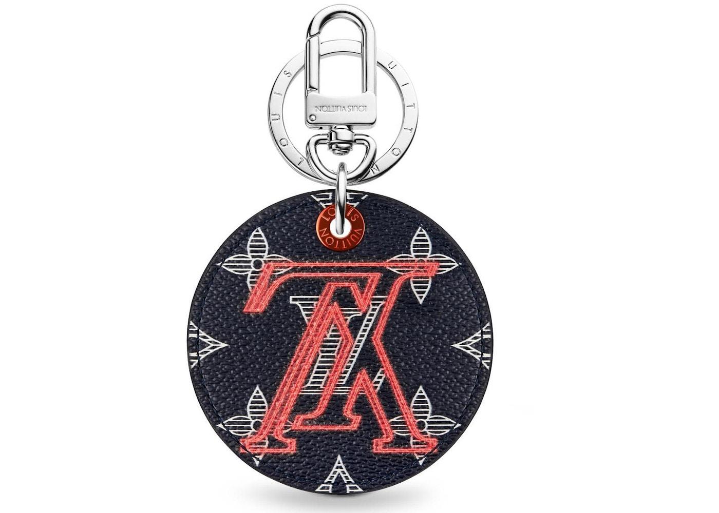 dc4248f22a Louis Vuitton Illustre Bag Charm and Key Holder Monogram Upside Down Ink  Navy