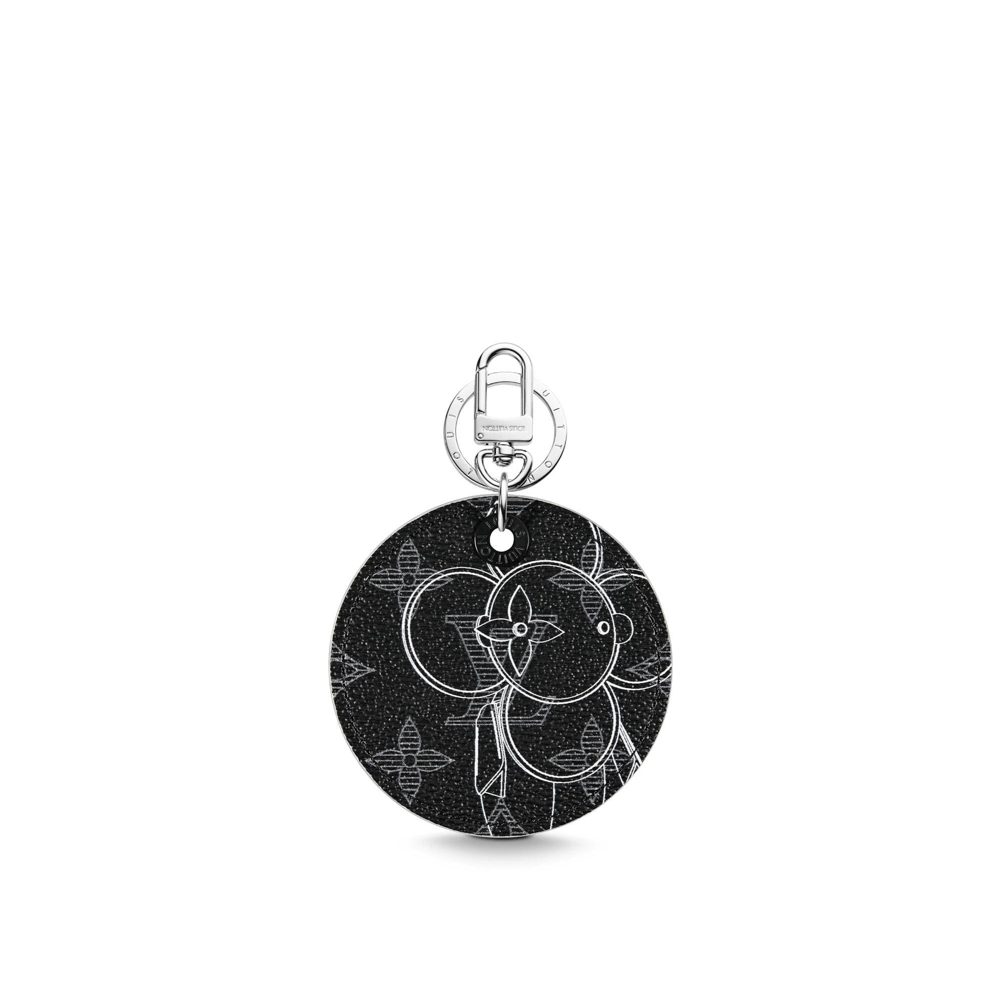 Louis Vuitton Illustre Bag Charm and Key Holder Monogram Vivienne Eclipse Black