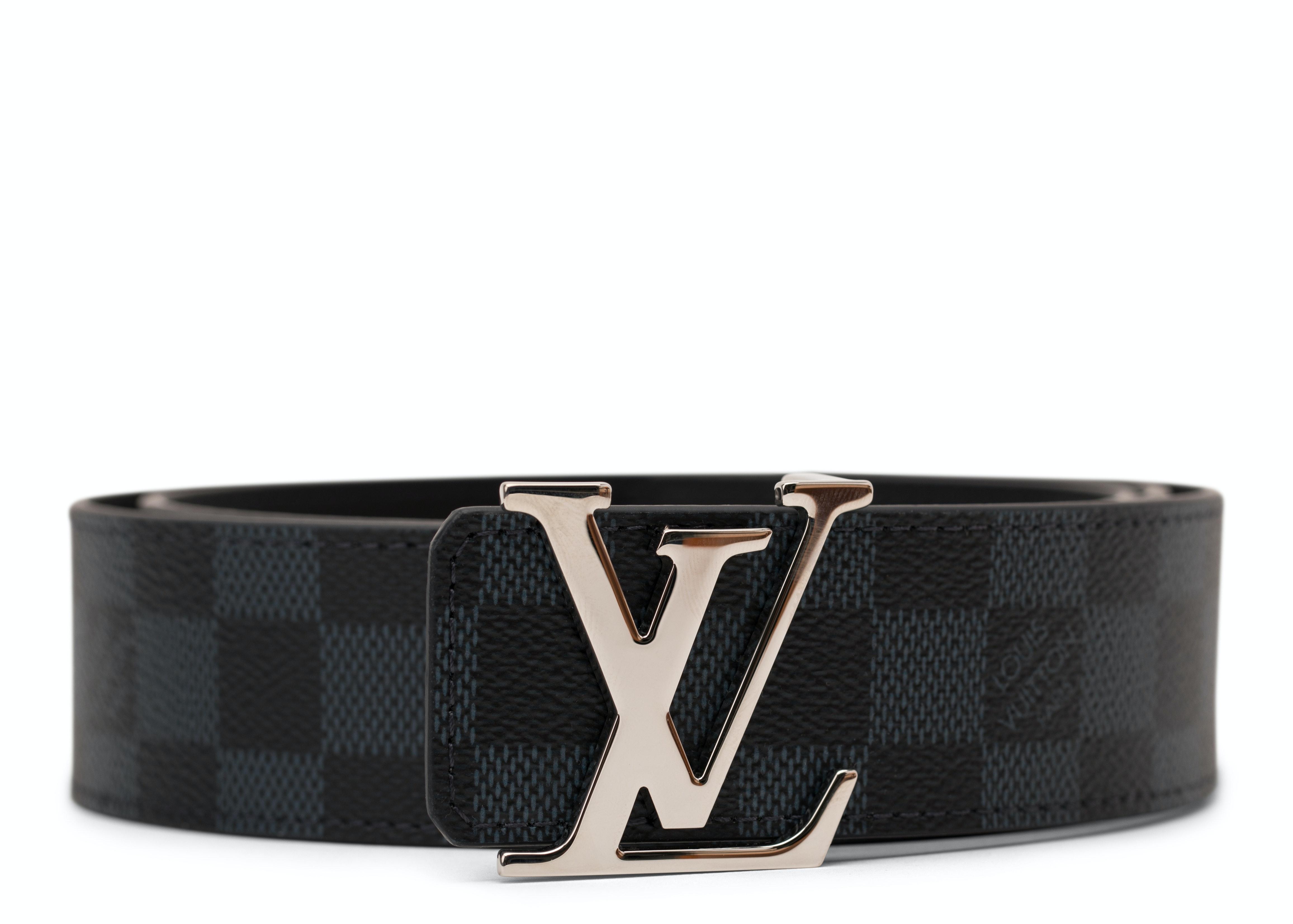 Louis Vuitton Initiales Belt Damier Cobalt Blue/Black