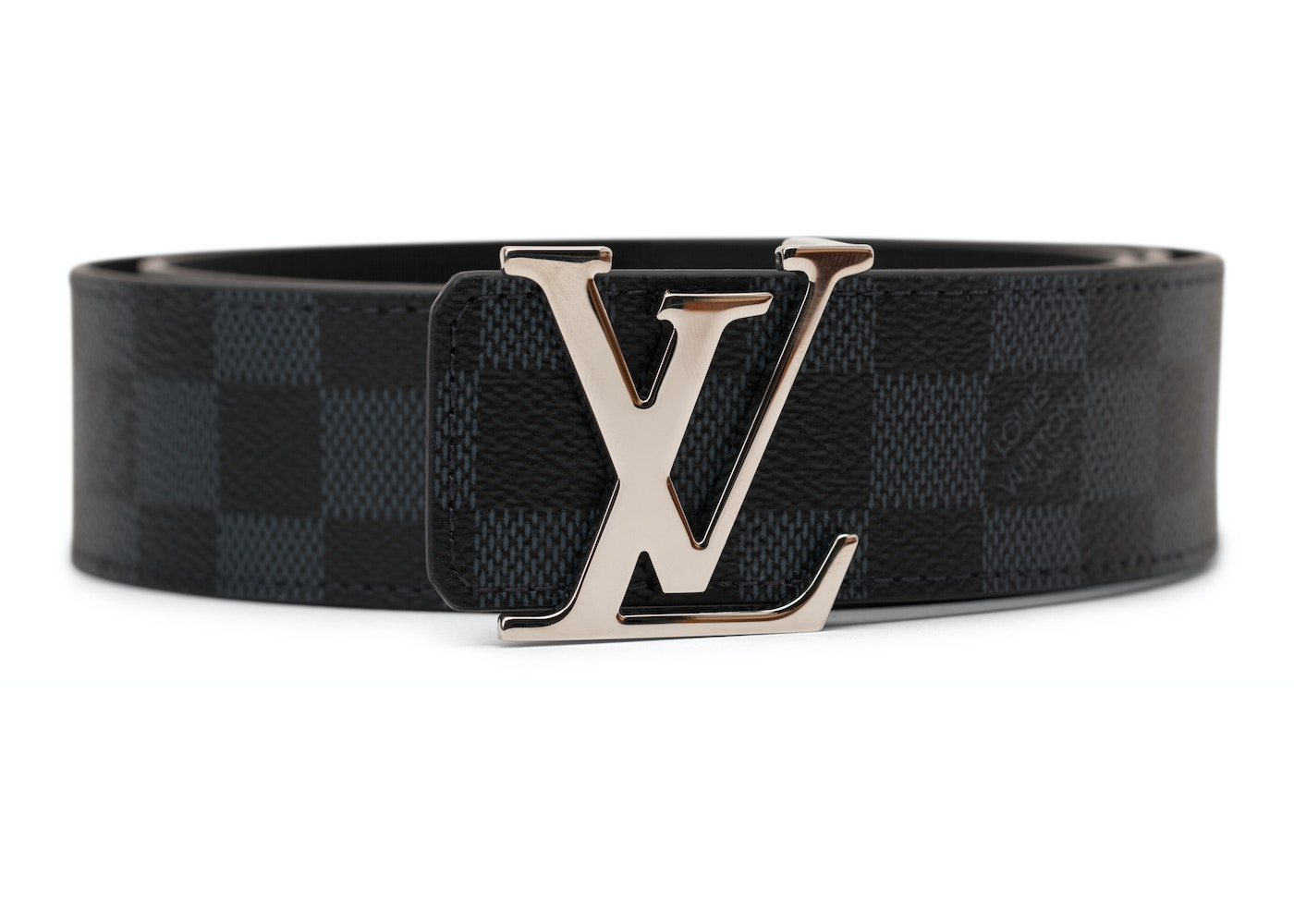4d0fc7bbb381 Louis Vuitton Initiales Belt Damier Cobalt Blue Black. Damier Cobalt  Blue Black