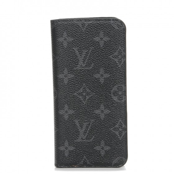 Louis Vuitton Folio Case Iphone 7 Plus Monogram Eclipse