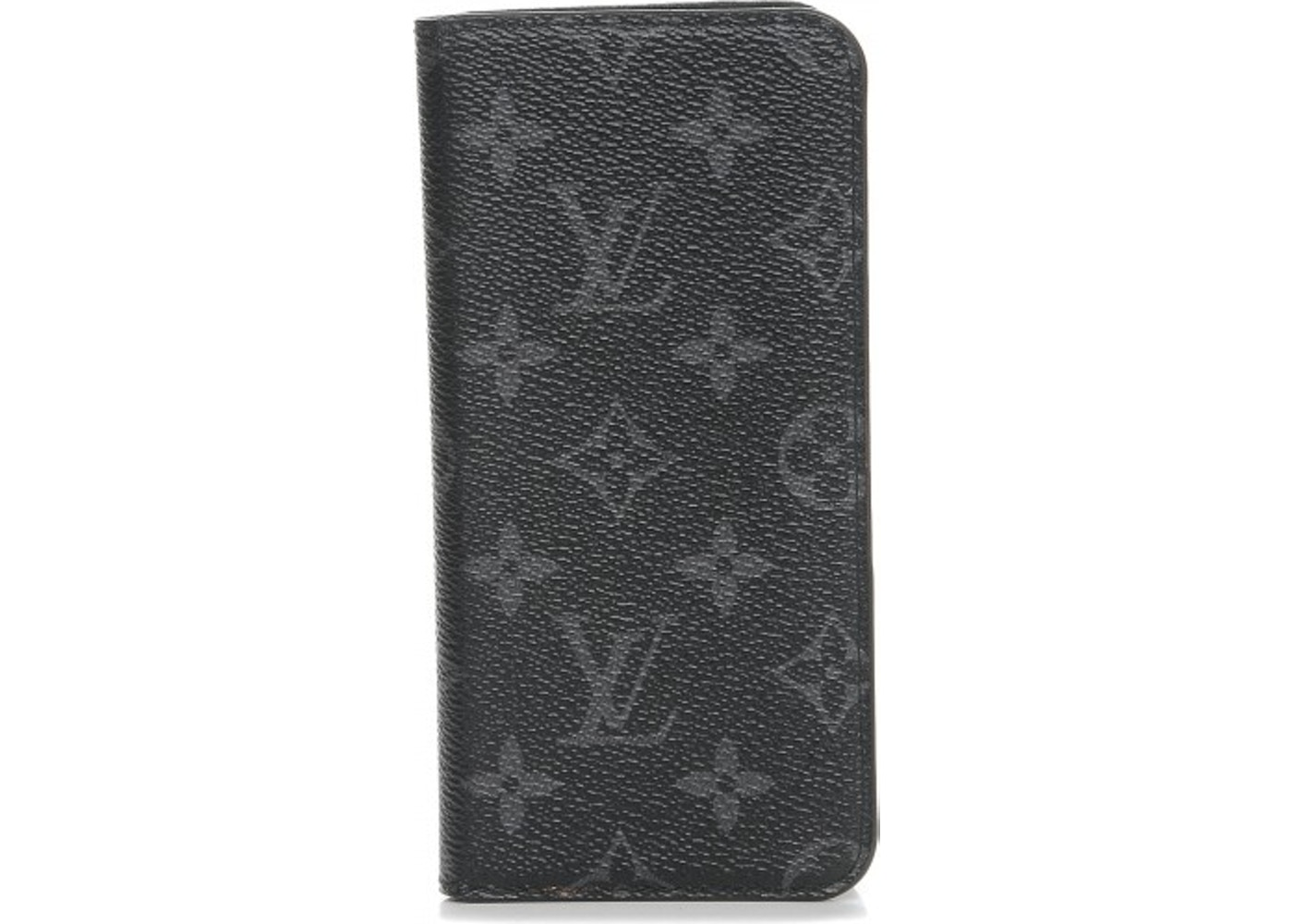 brand new ff775 43db9 Louis Vuitton Folio Case iPhone 7 Plus Monogram Eclipse