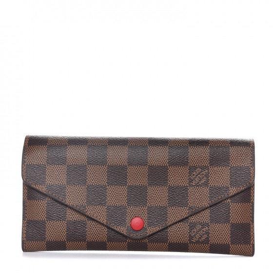 Louis Vuitton Josephine Wallet Damier Ebene (Without Zipper Insert) Brown Red