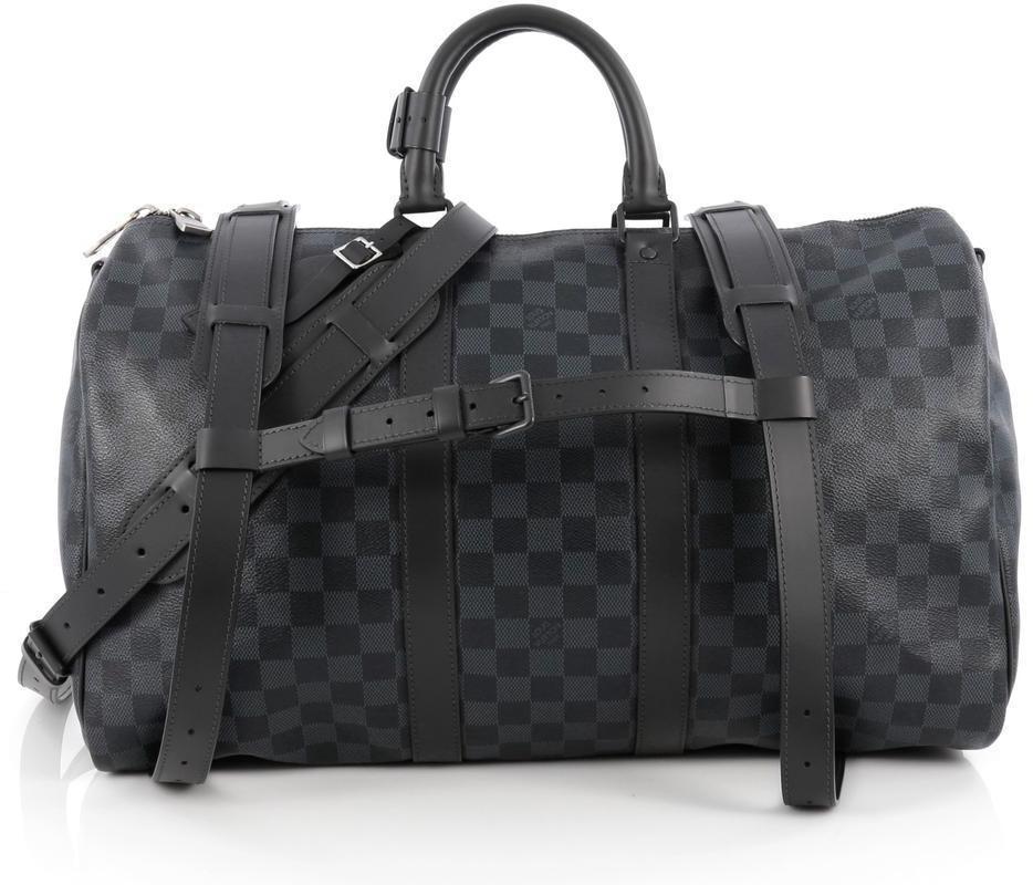 Louis Vuitton A Dos Keepall Damier Graphite Black