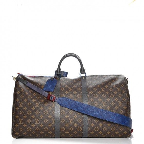 Louis Vuitton Keepall Bandouliere Monogram/Taiga 55 Brown/Blue