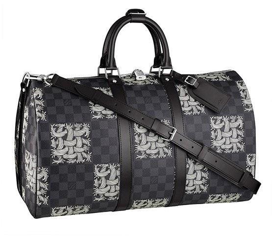 Louis Vuitton Keepall Bandouliere Christopher Nemeth Damier Graphite 45 Gray/Black/White