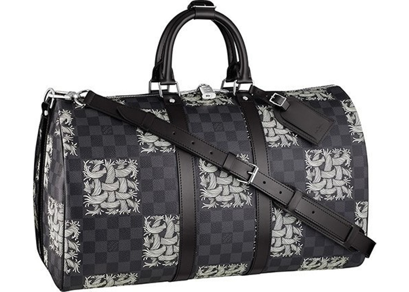 1db800a5118 Sell. or Ask. View All Bids. Louis Vuitton x Christopher Nemeth Keepall  Bandouliere Damier Graphite Rope 55 Black Multicolor