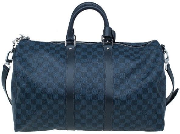 Louis Vuitton Keepall Bandouliere Damier Cobalt 55 Blue