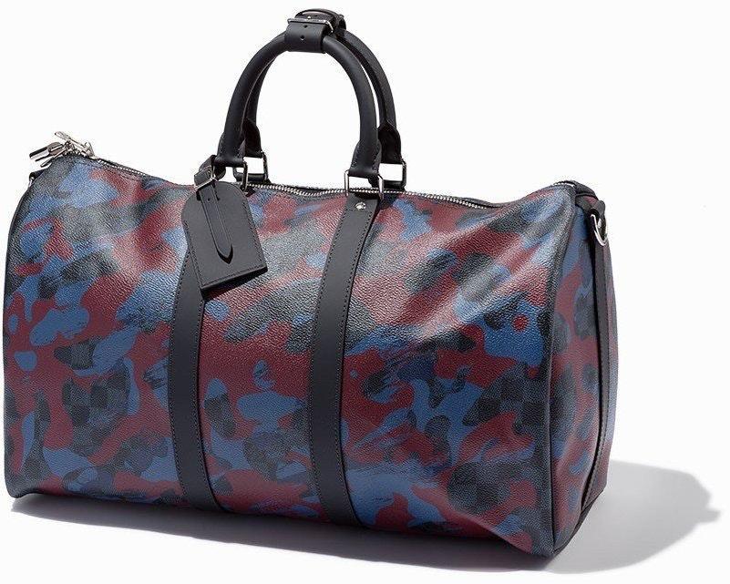 Louis Vuitton Keepall Bandouliere Damier Cobalt Bordeaux Camouflage 45 Bordeaux/Blue/Black/Gray