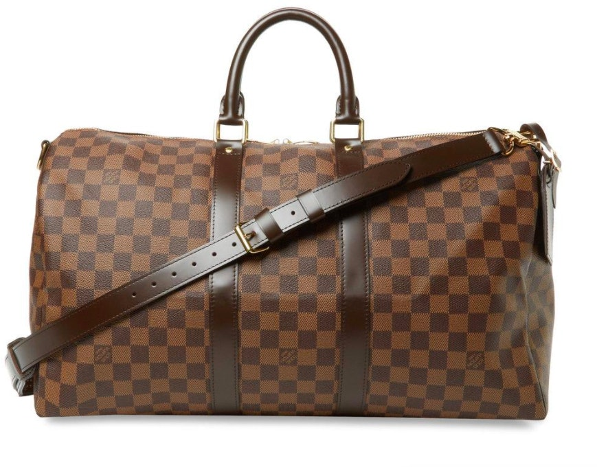 Louis Vuitton Keepall Bandouliere Damier Ebene 45 Brown