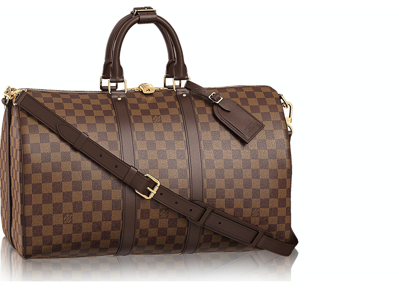 1db62b44e7c2 Louis Vuitton Keepall Bandouliere Damier Ebene (With Accessories ...