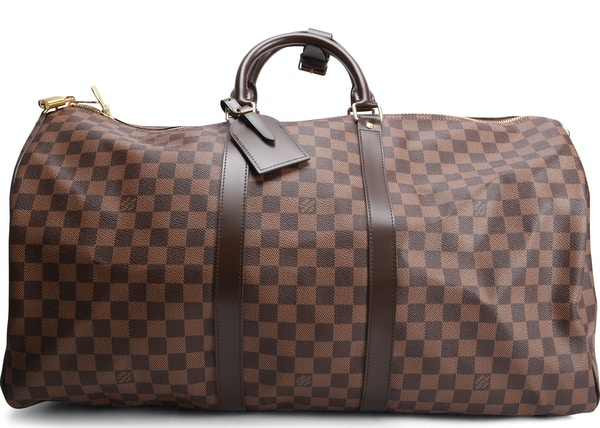 63e7749bf92f Louis Vuitton Keepall Bandouliere Damier Ebene (With Accessories) 55 Brown