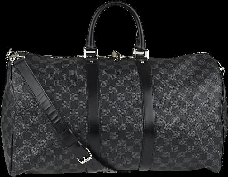 Louis Vuitton Keepall Bandouliere Damier Graphite 45 Black