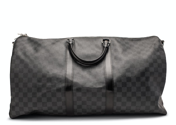 ef54cfe71226 Louis Vuitton Keepall Bandouliere Damier Graphite 55 Black Gray