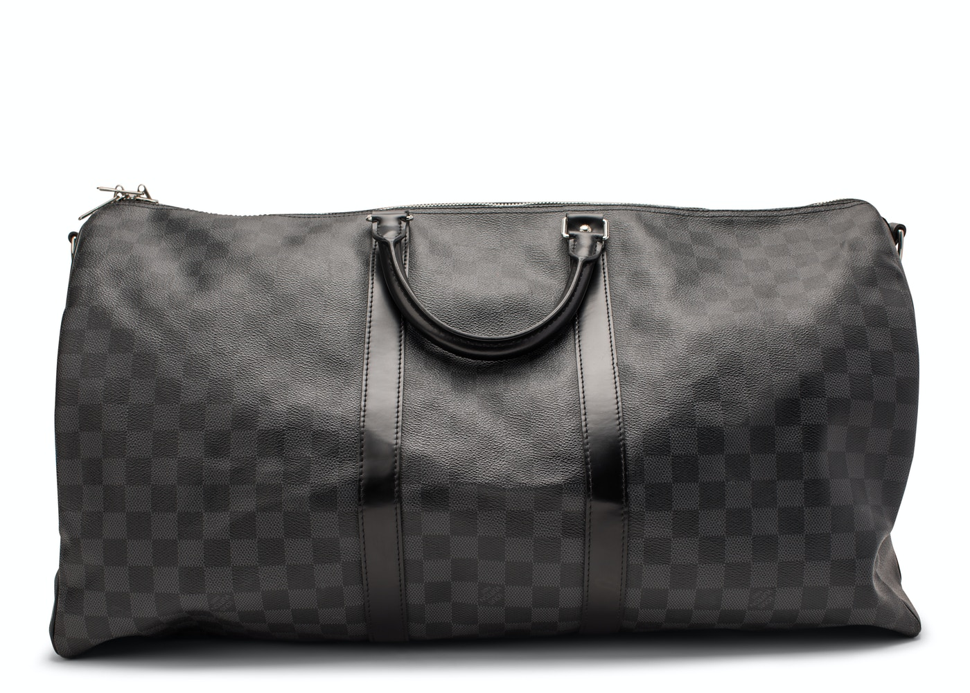 Louis Vuitton Keepall Bandouliere Damier Graphite 55 Black Gray 87aa28c913a57