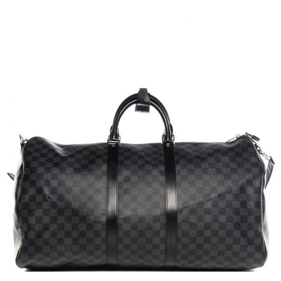 Louis Vuitton Keepall Bandouliere Damier Graphite 55 Black/Gray