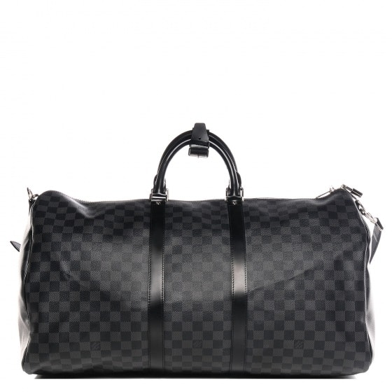 Louis Vuitton Keepall Bandouliere Damier Graphite 55 Black/Gray