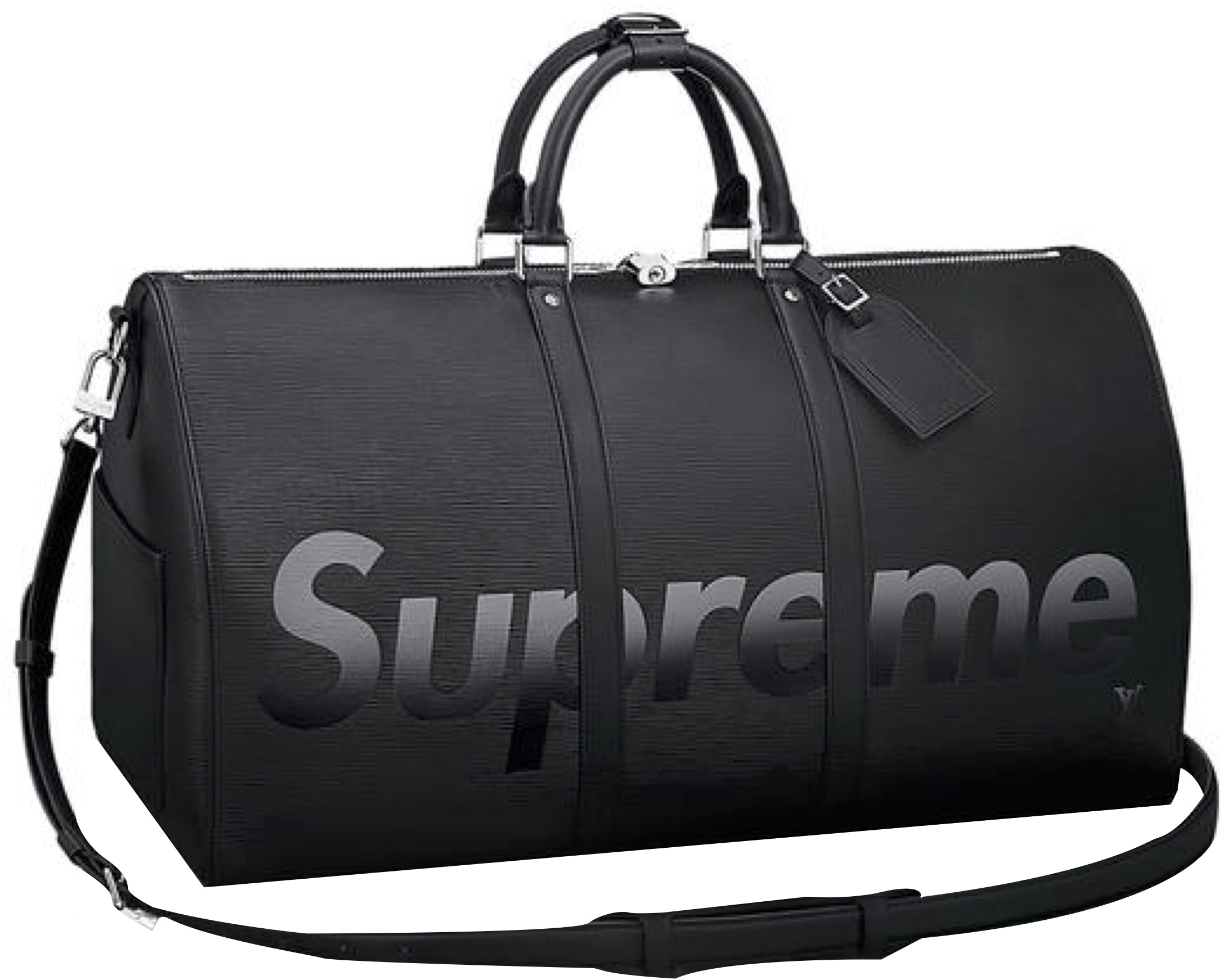 Louis Vuitton x Supreme Keepall Bandouliere Epi 55 Black