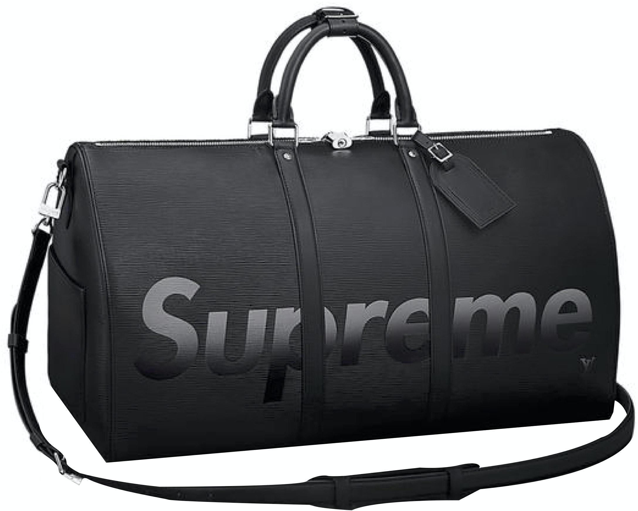 Louis Vuitton x Supreme Keepall Bandouliere Epi 55 Black