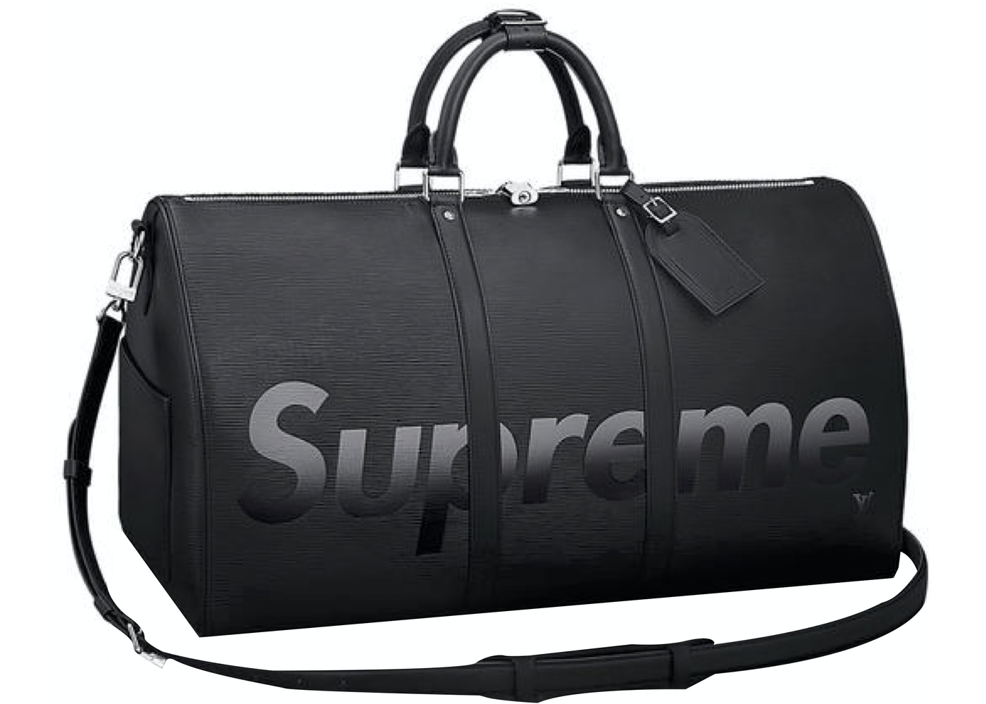 69a5916d625 Louis Vuitton x Supreme Keepall Bandouliere Epi 55 Black