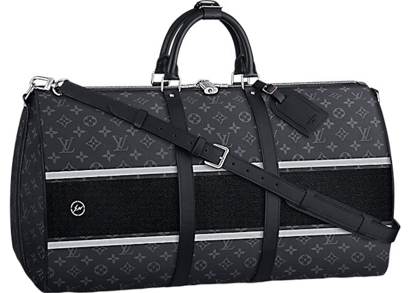 239728f58569 Louis Vuitton x fragment Keepall Bandouliere Monogram Eclipse 55 Black. Monogram  Eclipse 55 Black