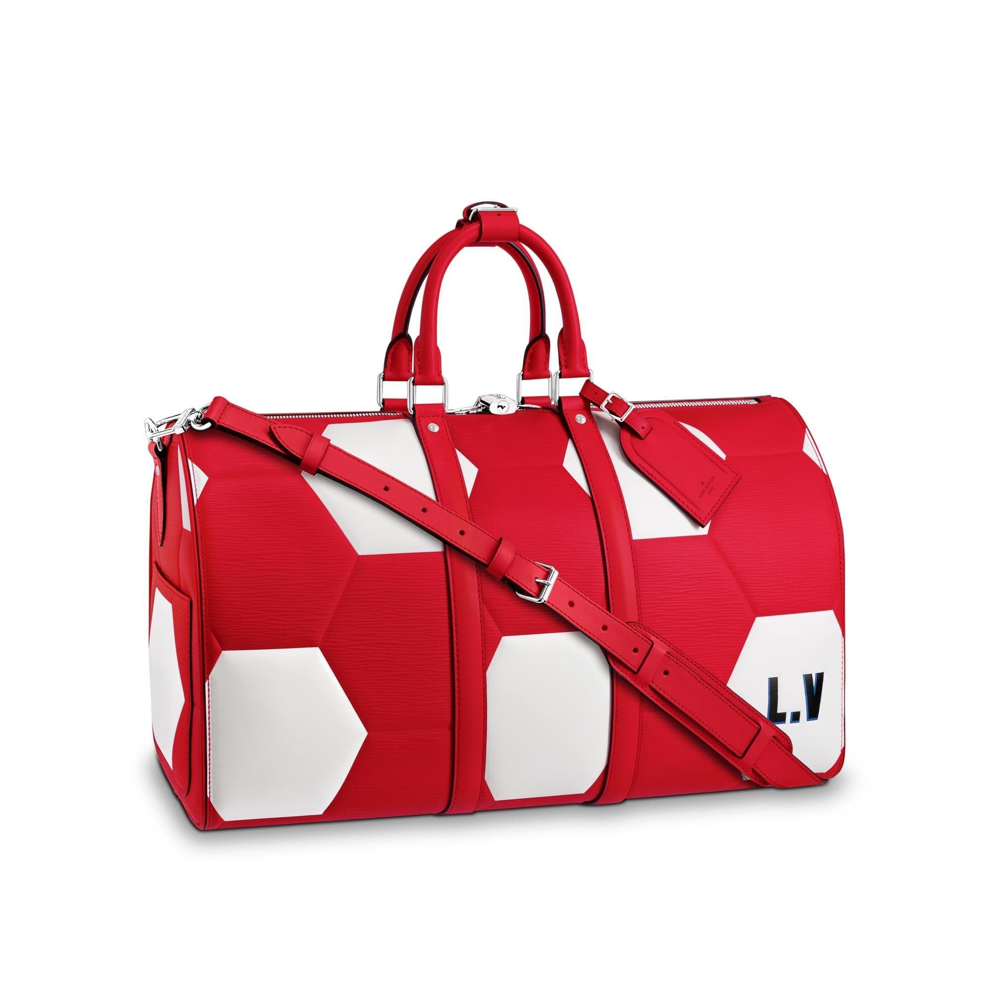 Louis Vuitton Keepall Bandouliere Hexagonal FIFA World Cup 50 Rouge