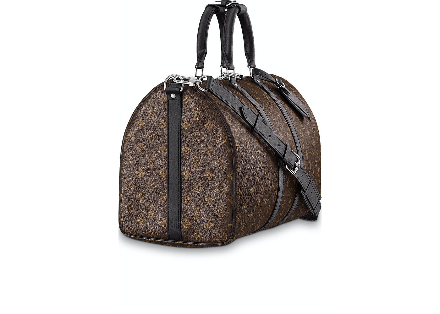 a924c0d70 Louis Vuitton Keepall Bandouliere Monogram Macassar 45 Brown/Black