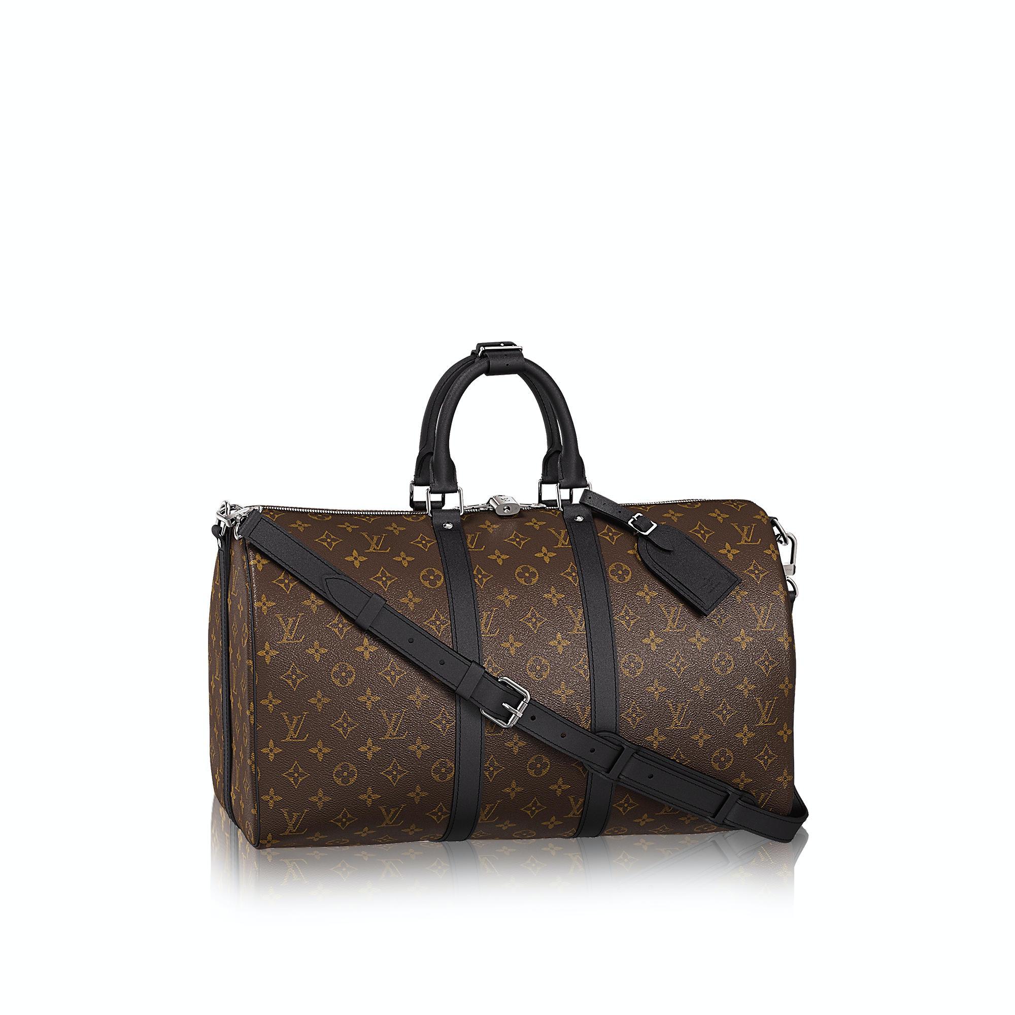 Louis Vuitton Keepall Bandouliere Monogram Macassar 45 Brown/Black