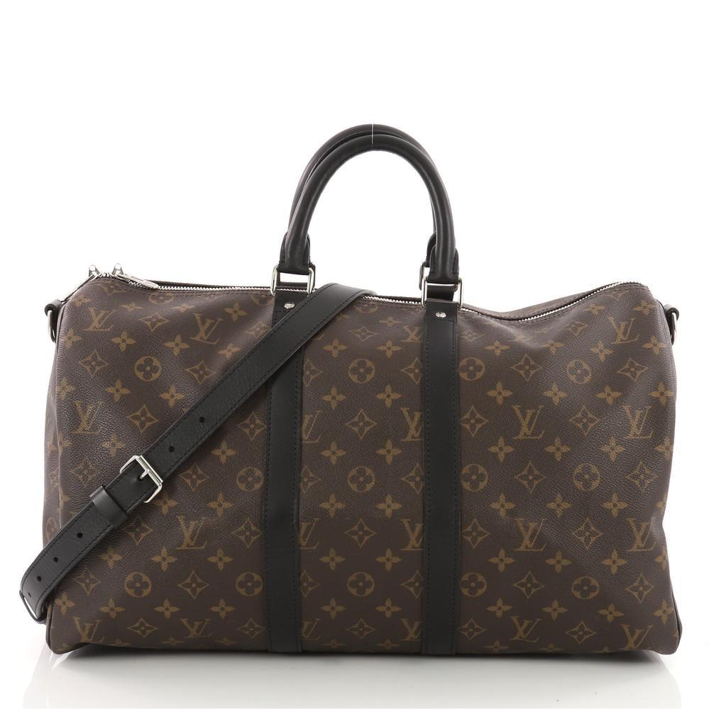 Louis Vuitton Keepall Bandouliere Monogram Macassar 45 Brown
