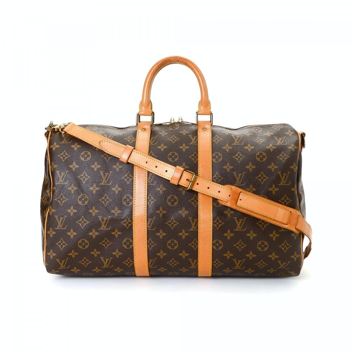 Louis Vuitton Keepall Bandouliere Monogram 45 Brown