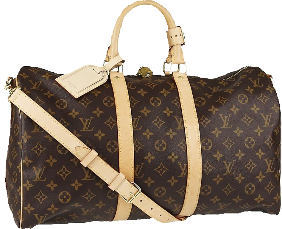 Louis Vuitton Keepall Bandouliere Monogram (With Accessories) 45 Brown