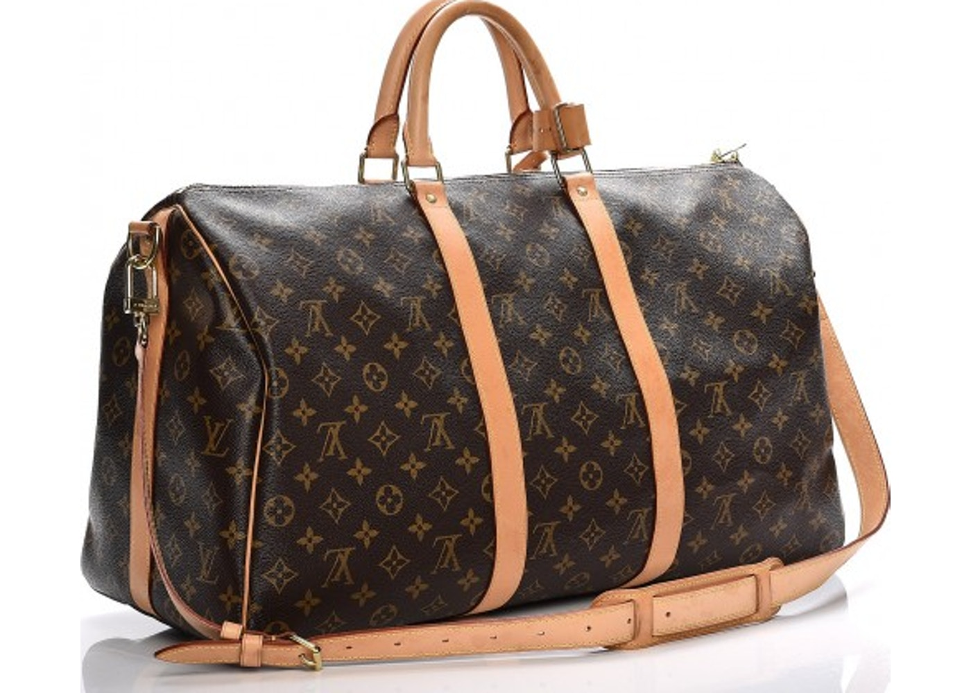 e5daa5ccd752c Louis Vuitton Keepall Bandouliere Monogram 50 Brown
