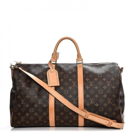 Louis Vuitton Keepall Bandouliere Monogram 50 Brown