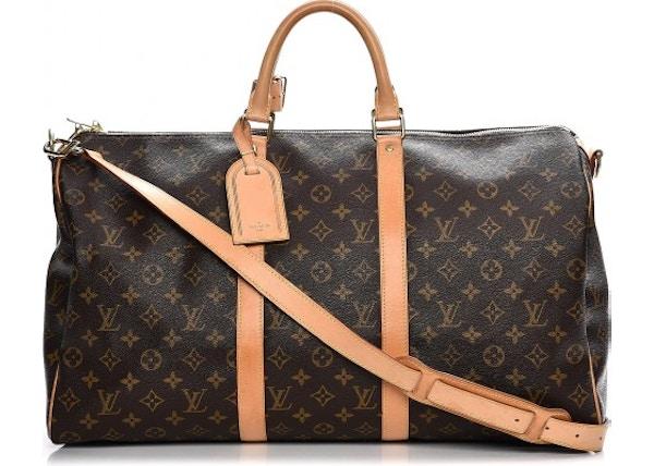 5eff2d227d4 Louis Vuitton Keepall Bandouliere Monogram 50 Brown