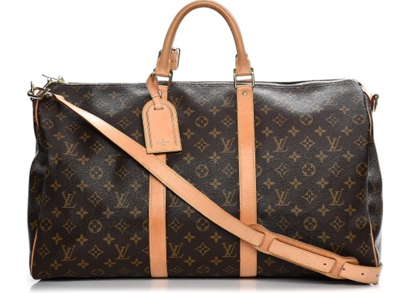 48e3c148c4195 Louis Vuitton Keepall Bandouliere Monogram 50 Brown. Monogram 50 Brown