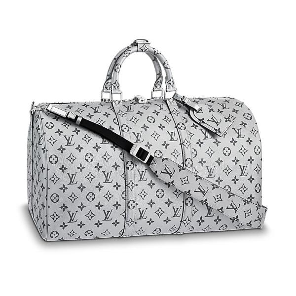 Louis Vuitton Keepall Bandouliere Monogram 50 Metallic Silver
