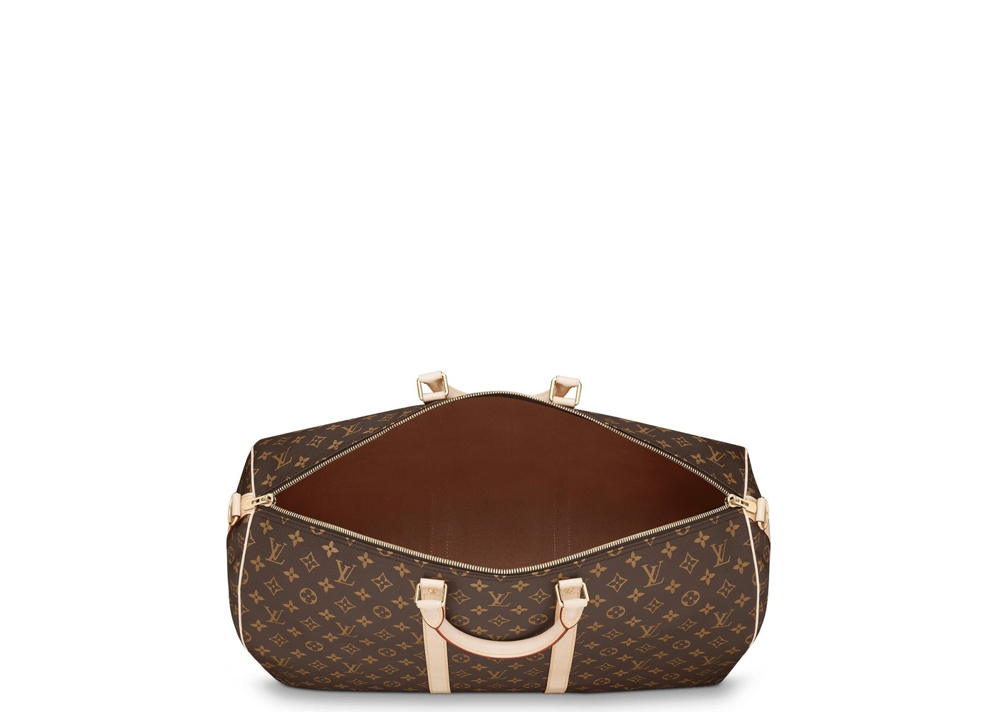 fb399ad257 Louis Vuitton Keepall Bandouliere Monogram 55 (With Accessories) Brown