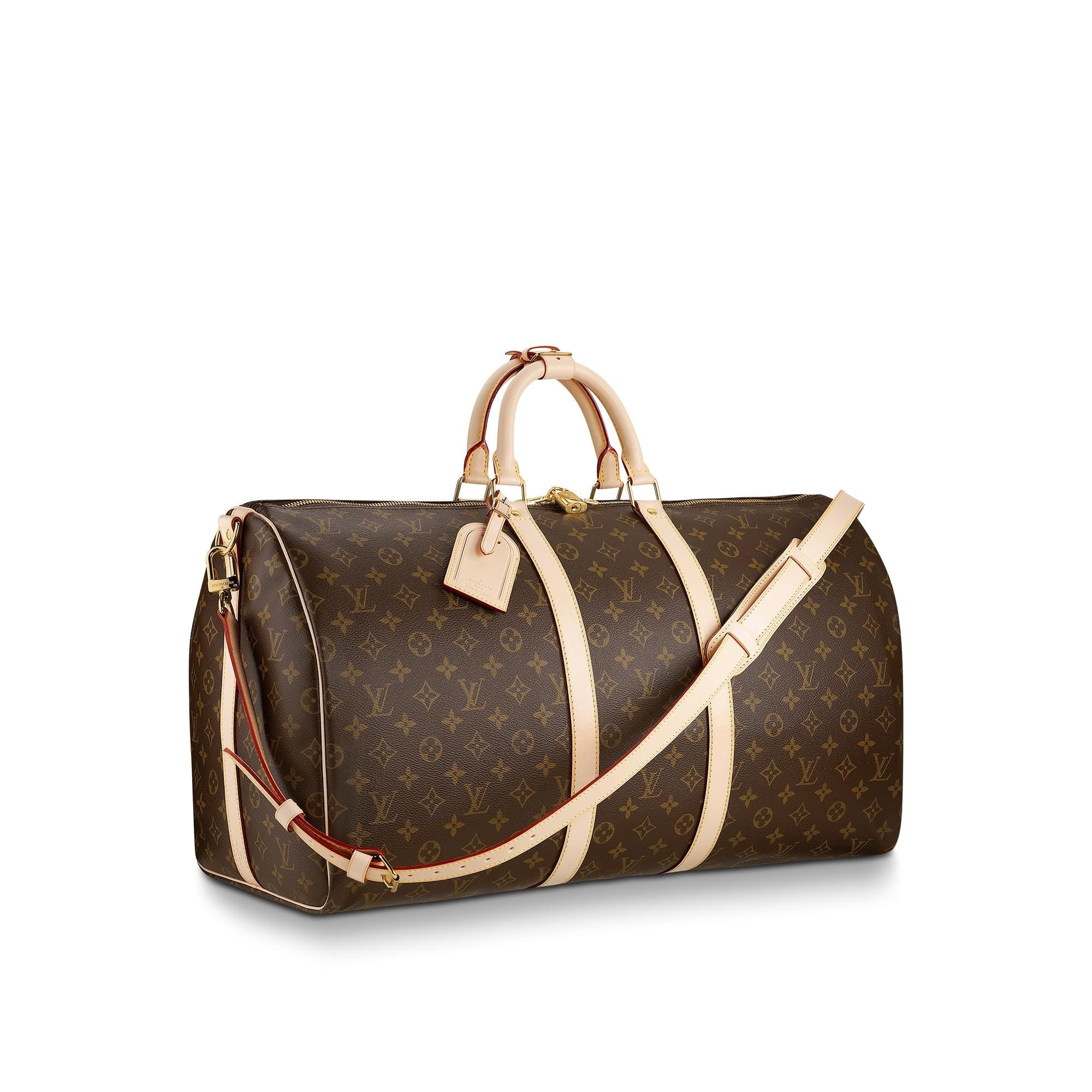 Louis Vuitton Keepall Bandouliere Monogram 55 (With Accessories) Brown