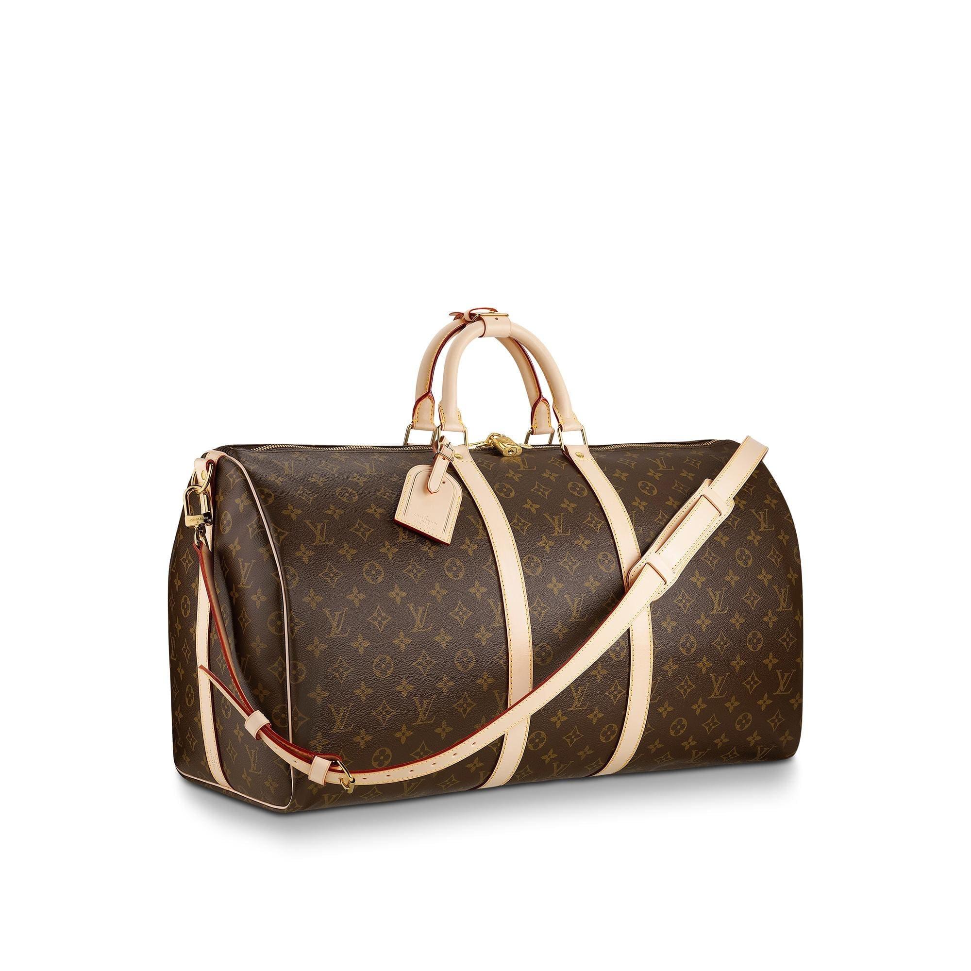 Louis Vuitton Keepall Bandouliere Monogram 55 Brown