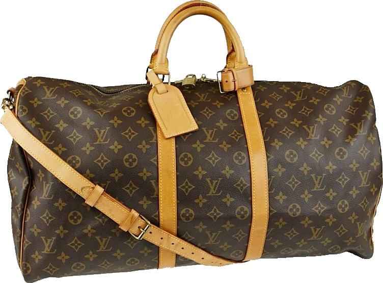 Louis Vuitton Keepall Bandouliere Monogram 55 Brown