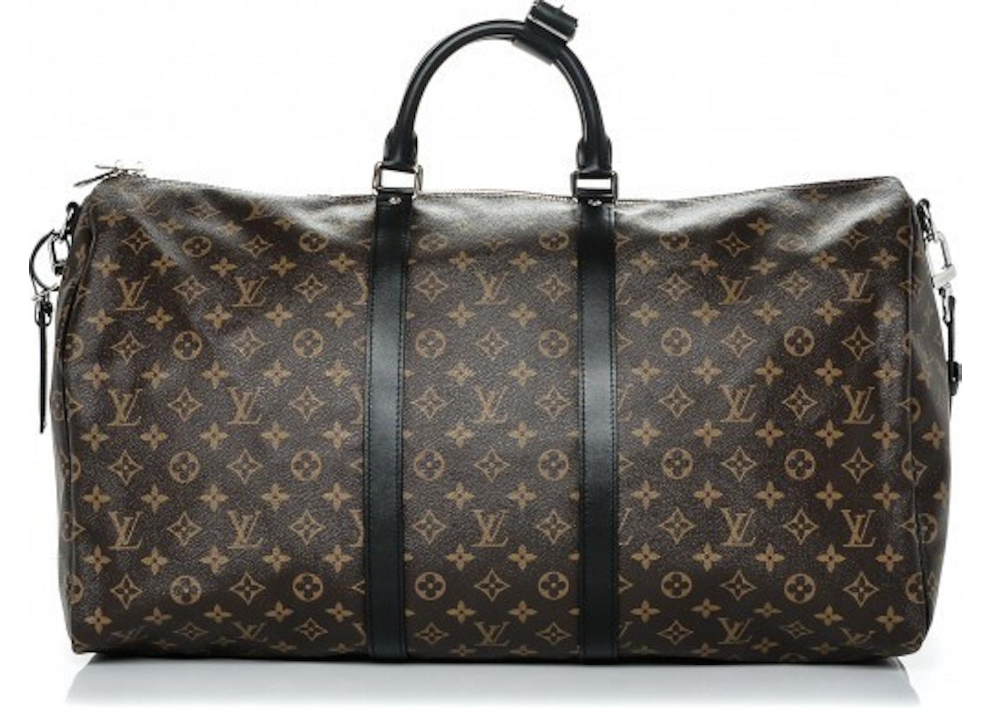 bb492266c62a Sell. or Ask. View All Bids. Louis Vuitton Keepall Bandouliere Monogram 55  Macassar Black