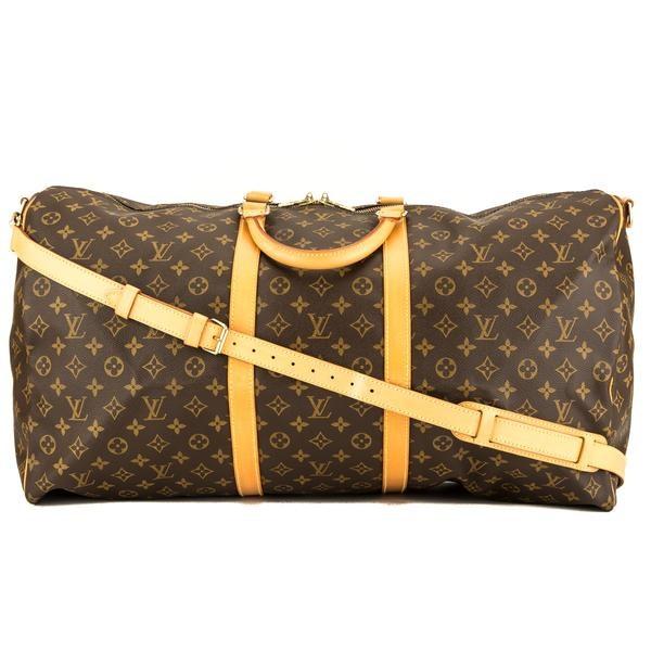 Louis Vuitton Keepall Bandouliere Monogram 60 Brown