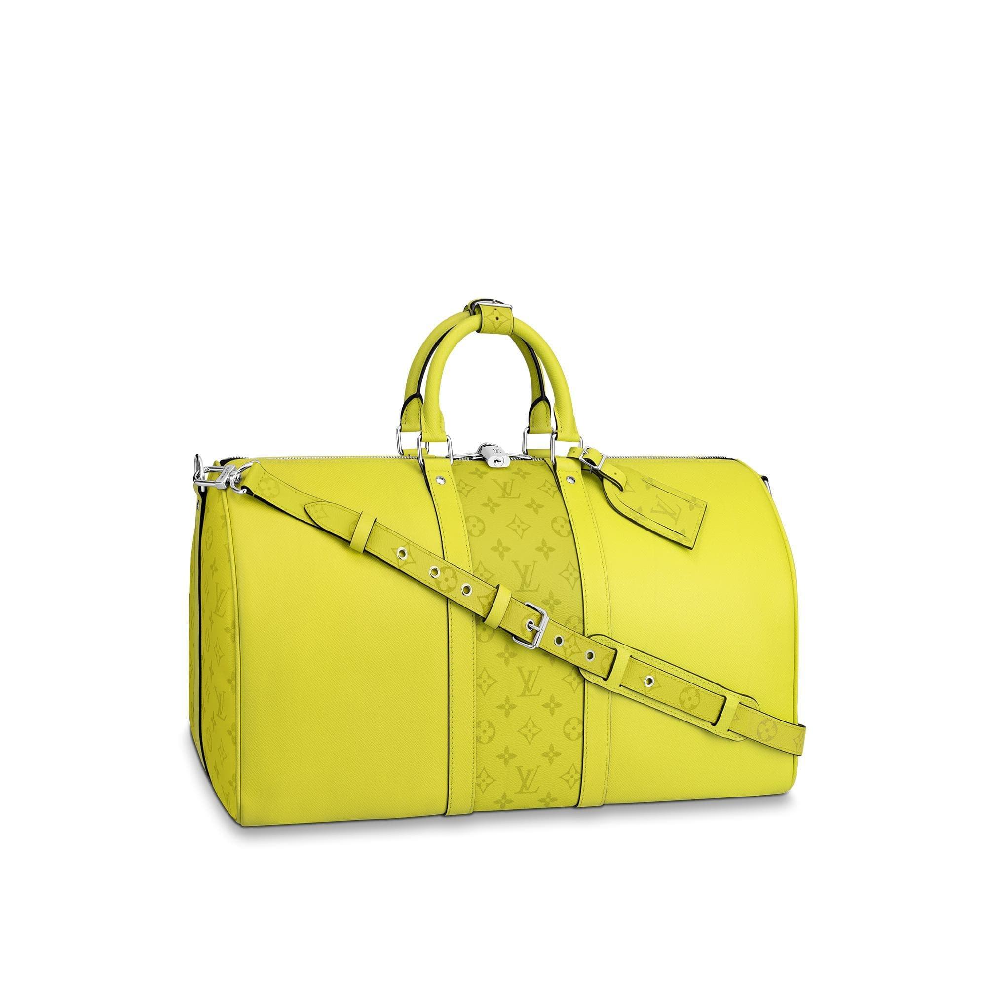 Louis Vuitton Keepall Bandouliere Monogram Bahia Taiga 50 Yellow