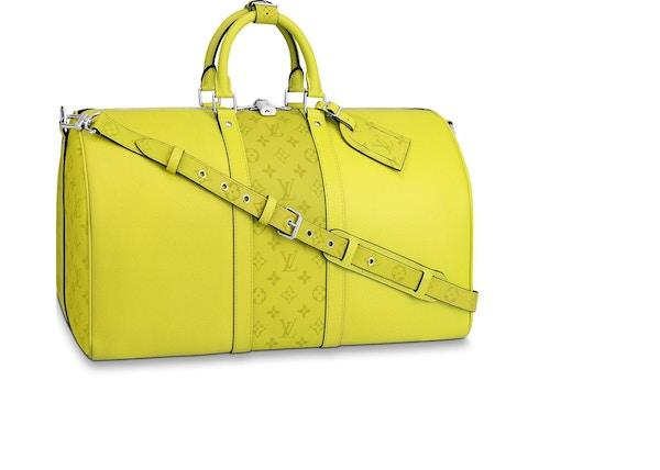 496db12c6df0ee Louis Vuitton Keepall Bandouliere Monogram Bahia Taiga 50 Yellow